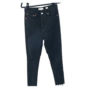 Re/Done Black Distressed Jeans